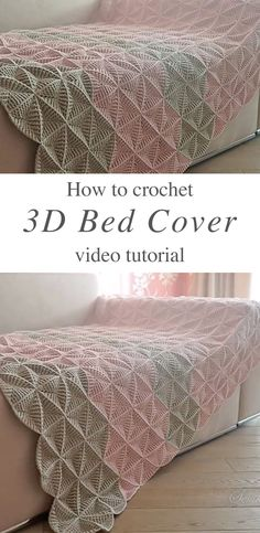 Crochet Triangles Bed Cover Anyone Can Make | CrochetBeja Crochet Triangle Pattern, Crochet Bedspread Pattern, Afghan Crochet Patterns, Crochet Motif, Crochet Doilies, Crochet Home, Crochet Baby, Knit Crochet, Free Crochet
