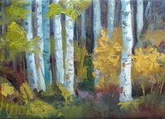 """Birch Trees"" - Original Fine Art for Sale - © by Judy Wilder-Dalton"