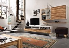 asymmetrical tv wall