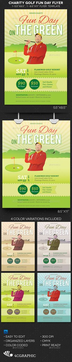 Charity Golf Save-the-Date Golf, Fundraising and Fundraising ideas - golf tournament flyer template