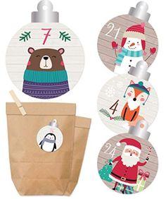 Adventskalender 2018 Adventskalender Winterfreunde #advent #adventskalender #kalender #dezember #weihnachten #doityourself #diy #christmas #xmas #kalenderselbstgemacht #24.12 #heiligabend #heilig #abend #schnee #winter #kalt #väterchenfrost #weihnachtsmann #santaclaus #santa Stickers, The Originals, Winter, Etsy, Sticker, Homemade, Christmas, Gifts, Switzerland