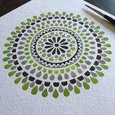 Green mandala by Claudia Calderas