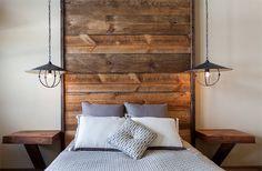 DIY long wooden headboard