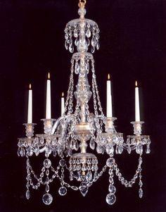 An Early Regency Period Cut Glass & Ormolu Chandelier