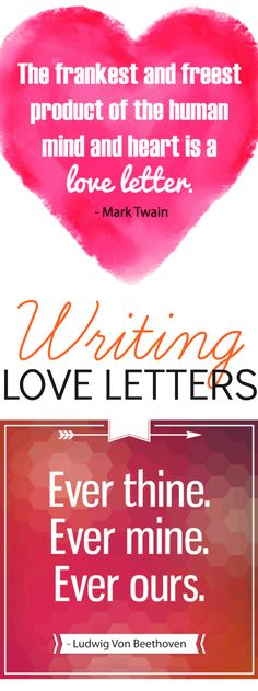 Writing love letters....