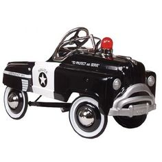contemporary pedal cars | Classic Police Pedal Car