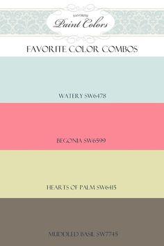 green | Favorite Paint Colors Blog Paint Color Schemes, Colour Pallette, Color Combinations, Pink Palette, Favorite Paint Colors, Favorite Color, Painting Tips, House Painting, Wall Colors