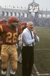 George Long/WireImage John McKay led USC to four national . College Football Coaches, School Football, Sport Football, Football Fight, Redskins Football, Football Stuff, Football Art, Football Memes, Baseball
