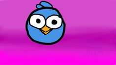 Angry bird, fondo difuminado