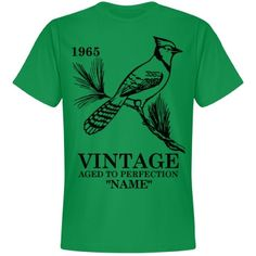 Vintage Blue Jay Birthday shirt  | An awesome birthday shirt for anyone. Customize the date to be your date of birth and add your name as well.