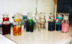 "I like the idea of having random ""potion"" bottles around...  #Harry Potter"