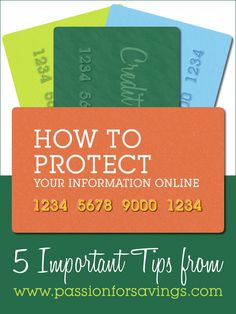 How to Protect Your Information Online. Easy Tips for Online Shopping!