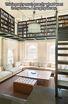 "The house of my dreams. Would love to put this on a pulley system and make it ""lower-able"""
