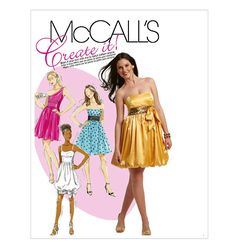 M5850 | Misses' Dresses | Evening/Prom | McCall's Patterns