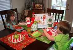 """North Pole Breakfast with """"ELF on the Shelf"""" I received ours last year as a gift...so this might be a GREAT way for him to make his 1st appearance!!!"""