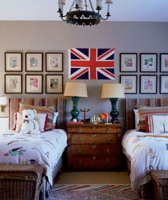 Twin Beds For Kids | House & Home | Photo via ELLE Decor by Simon Upton