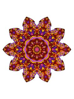 Pinks Reds Purples And Morebut You Can Color It However Want Get Your Mandala Coloring Book From Art Love Passion Bohemian