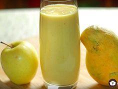 Licuado de mango con manzana
