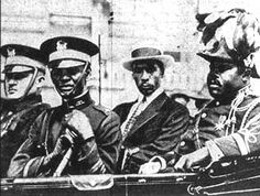 Noble Drew Ali with Marcus Garvey.