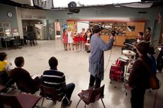 """Behind the scenes photo from the """"I Kissed A Girl"""" episode. Original Air Date 11/29/2011"""