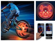 Wheel Light Bike Writer Spoke Toy Sports Kids Ride Smartphone Picture Animation  #SkyRocketLLC