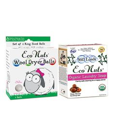 Loving this Organic Soap Nuts Laundry Detergent & Wool Dryer Ball Set on #zulily! #zulilyfinds