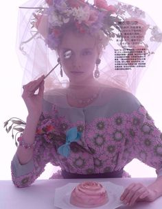 Amber Gray Captures Tea Time Chic for Marie Claire China