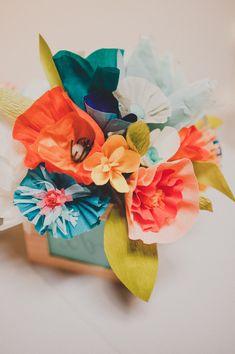 DIY Crepe Paper Flowers http://ruffledblog.com/diy-crepe-paper-flowers
