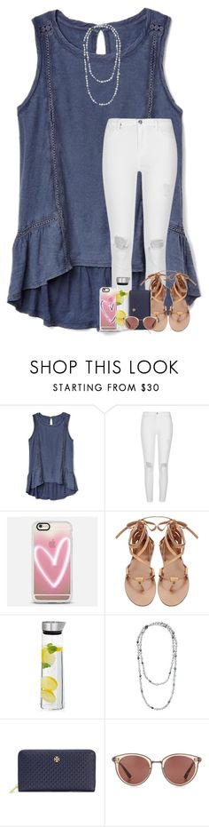 """1:38am"" by arieannahicks on Polyvore featuring Gap, River Island, Casetify, blomus, Claudia Bradby, Tory Burch and Oliver Peoples"