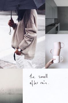 oversized sweaters, coffee, rainy day - describes one of my favorite days