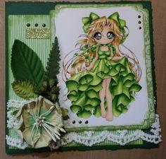 Green Scrapbook Cards, Scrapbooking, Copic, Art Blog, Christmas Ornaments, Holiday Decor, Green, Scrapbooks, Christmas Ornament