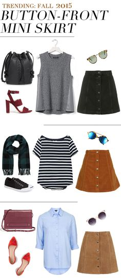 Fall Fashion Trend: Button-Front Skirt via The Fancy Pants Report | http://thefancypantsreport.com