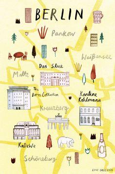 Livi Gosling - Map of Berlin for Virgin Australia's Voyeur Magazine