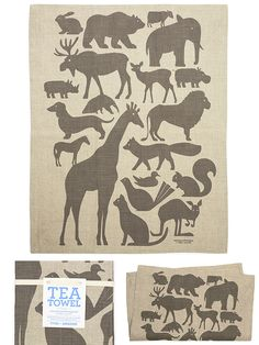 This tea towel would be so cute framed in a child's room