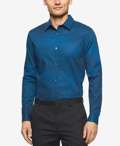 Calvin Klein Men's Stripe and Check Long-Sleeve Shirt