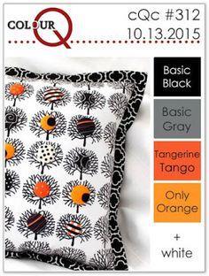colourQ: colourQ challenge #312...Basic Black, Basic Gray, Tangerine Tango Only Orange