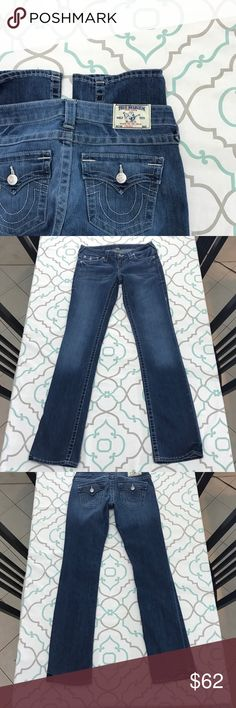 "💜👖True Religion Straight Fit👖💜28 5/6 33.75"" 💙👖DESIGNER JEANS!👖💙👖PREMIUM DENIM!👖💙 Thanks for stopping by!!! Please Study Photos Very Carefully!!! ZOOM IN on Hems, Pockets & Seat! SEE Details Color & Condition! SEE NOTECARD for information about this pair of jeans!!! The Notecard will answer many of your questions!!! MEASUREMENTS are listed ON NOTECARD!!! #Hashtags: Anthro Anthropologie Buckle Dojo 7 All Mankind Citizens of Humanity Miss Me True Religion Rock Revival AG Hudson BKE J…"