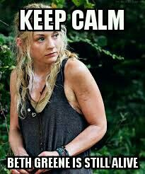 The Walking Dead Season 5- this does calm me down:) but I knew she couldn't die.... she's too AWSOME