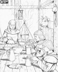 coloring pages middle ages - photo#37