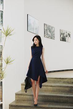 daily 2019 feminine& classy look Tight Dresses, Simple Dresses, Elegant Dresses, Pretty Dresses, Beautiful Dresses, Casual Dresses, Short Dresses, Korean Fashion Dress, Asian Fashion