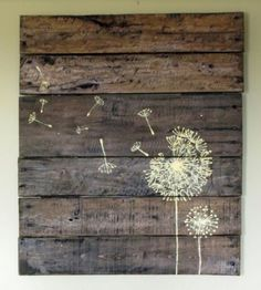 Muebles hechos con palets on pinterest pallets old pallets and pallet tables - Cuadros hechos con palets ...
