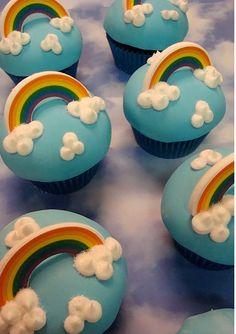 rainbow cupcakes diy - up close