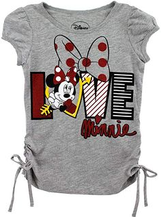 Disney Minnie Mouse Girls Grey T Shirt 4 5 6 Cute Outfits For Kids, Toddler Girl Outfits, Boy Outfits, Graphic T Shirts, Disney Shirts For Family, Shirts For Teens, Baby Girl Onsies, Girls Tees, Disney Outfits