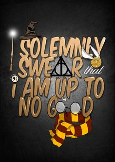 Harry Potter- 'I Solmenly Swear...' Illustration Print  by sweetjimmyshop on Etsy