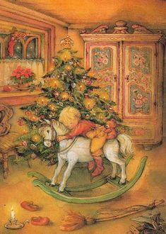 Lisi Martin, Christmas postcard 10 x Sweden Vintage Christmas Images, Christmas Scenes, Old Fashioned Christmas, Christmas Past, Victorian Christmas, Vintage Holiday, Christmas Pictures, Christmas Holidays, Christmas Postcards