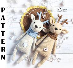 PATTERN Crochet deer pattern, amigurumi deer pattern, deer pattern, PDF crochet pattern, crochet animal pattern, deer toy tutorial
