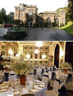 Wedding reception in the fabulous Ballroom at sumptuous wedding venue Drumtochty Castle - http://www.drumtochtycastle.com/