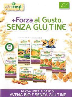 Linea di Merendine e biscotti a base di AVENA BIO Senza Glutine #Probios #SenzaGlutine #Bio #GlutenFree #Avena