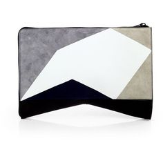 Narciso Rodriguez Folio Intarsia Clutch ($1,395) ❤ liked on Polyvore