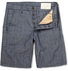 Rag & boneSlim-Fit Cotton and Linen-Blend Shorts $160